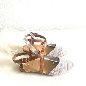 Old navy toddler stripped pointy toe sandal